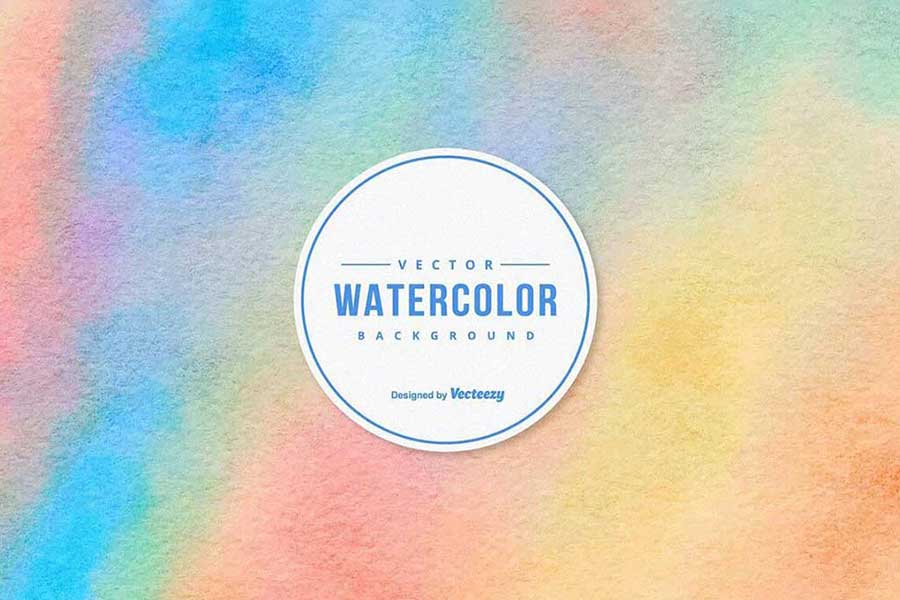 Colorful Watercolor Vector Texture