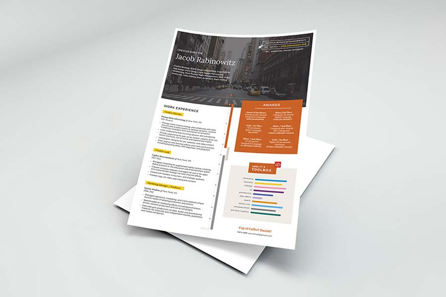 Creative InDesign CV
