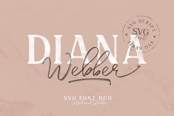 Diana Webber Elegant Fonts