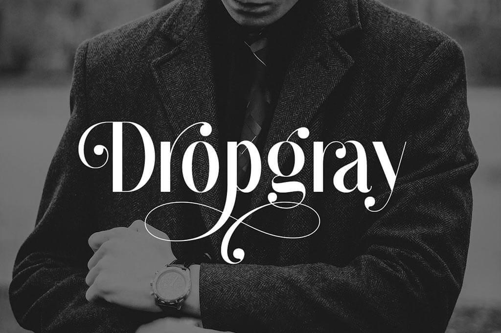 Dropgray Sans Serif Elegant Font