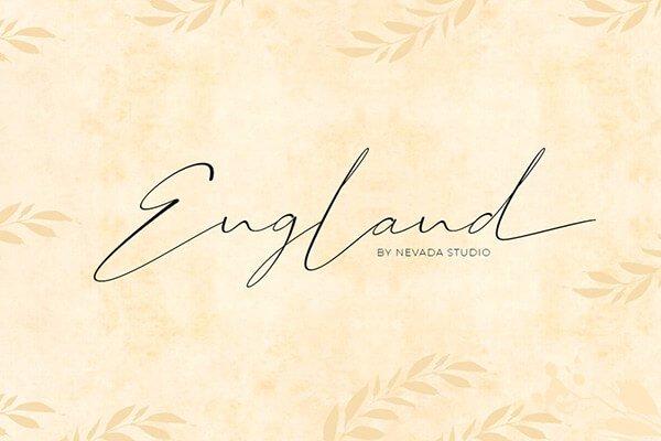 England Romantic Font