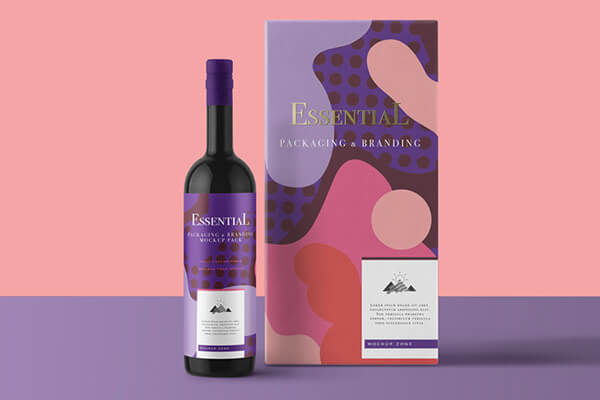 Essential Wine Bottle Mockup