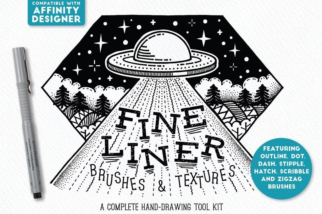 Fine Liner Brushes for Affinity Designer