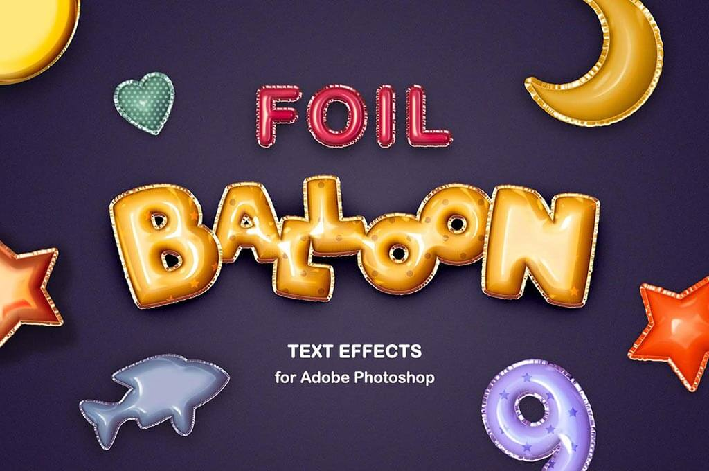 Foil Balloon Text Effects