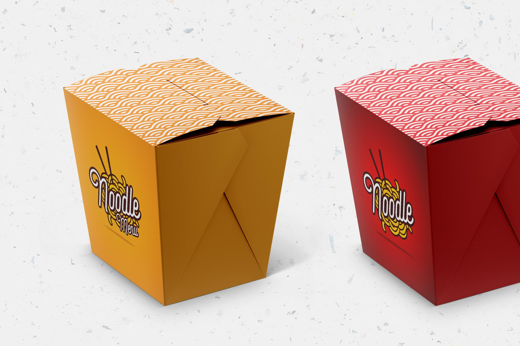 Free Noodles Box Mockup Set