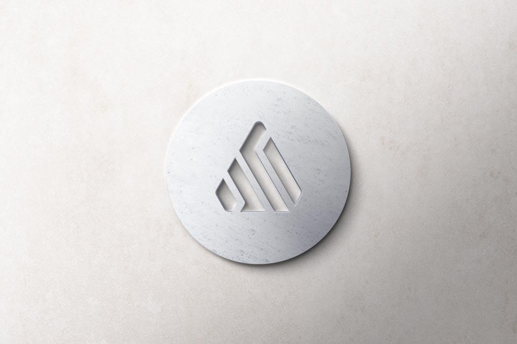 Free Realistic 3D Logo Mockups