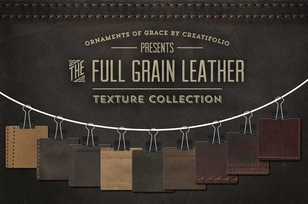 Full-Grain Leather Textures - PNGs