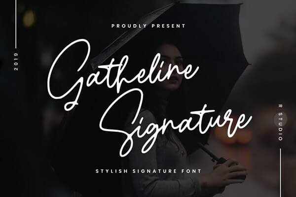 Gatheline Free Wedding Font