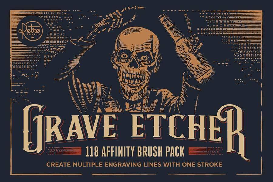 Grave Etcher for Affinity Designer