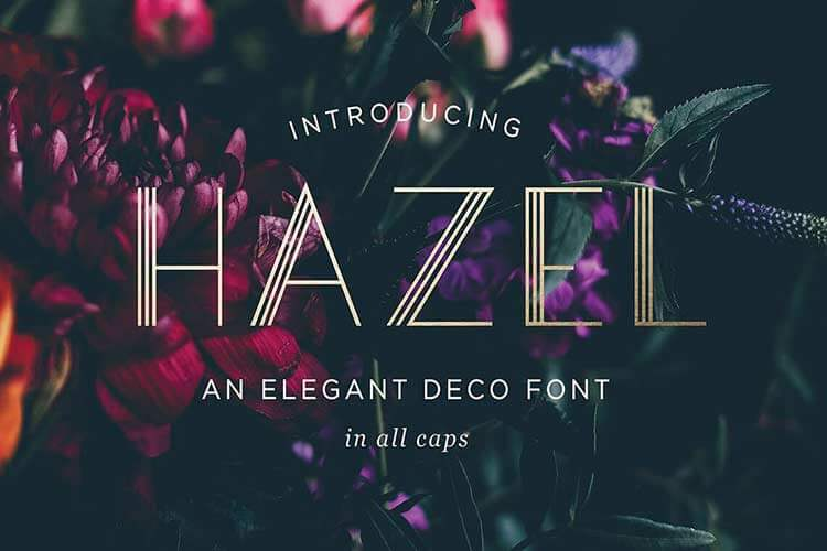 Hazel Deco Font