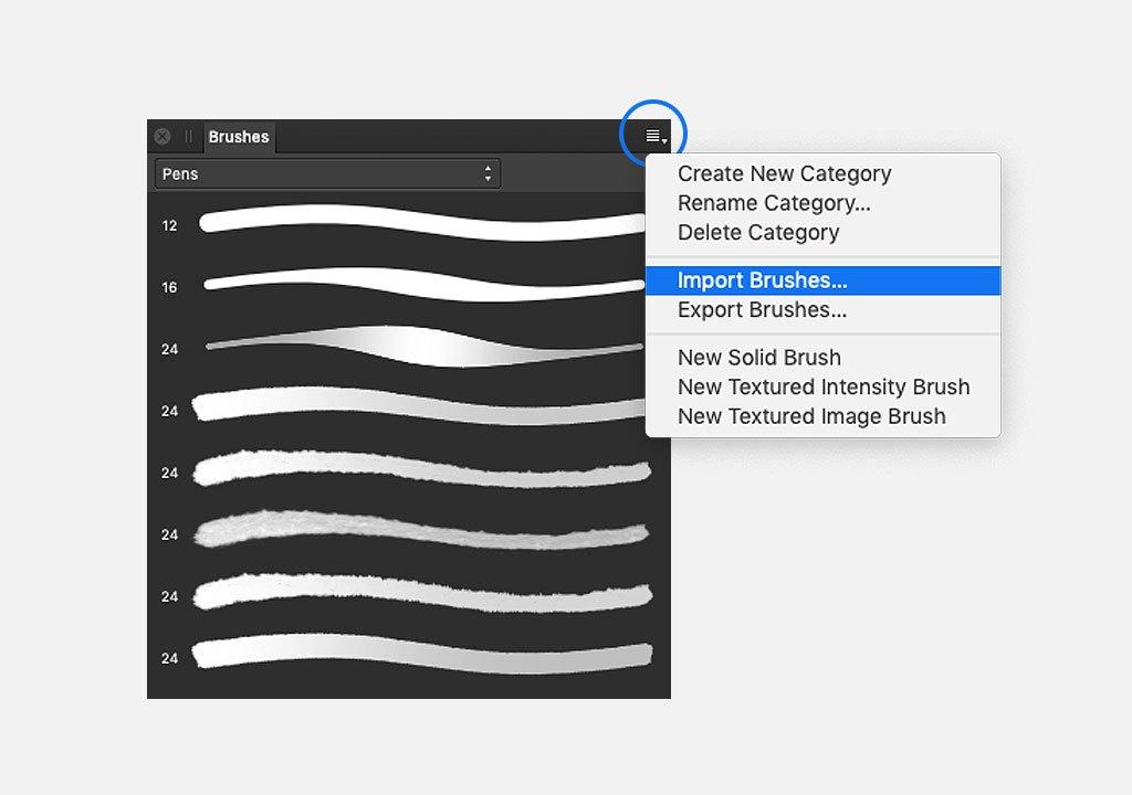 Installing Affinity Designer brushes on desktop