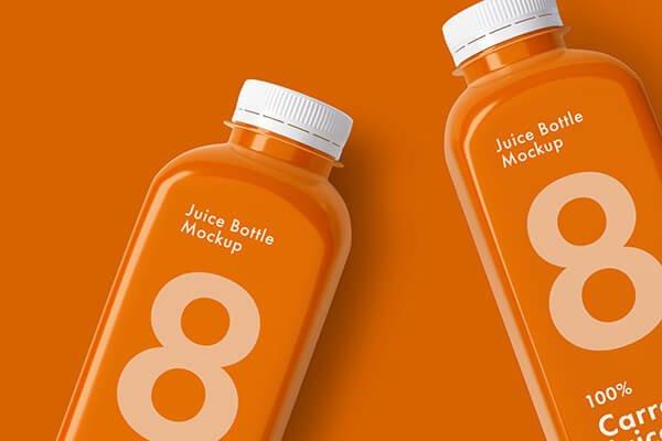 Juice Bottle Mockup Set