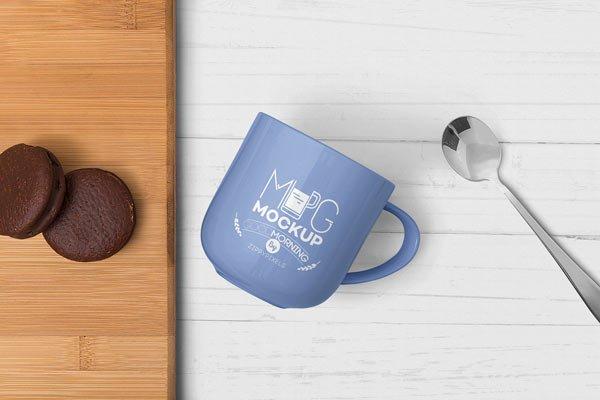 Lovely Mug Mockup Free PSD