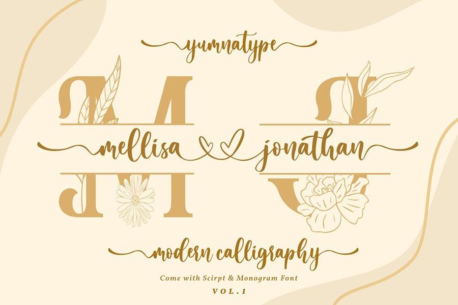 Mellisa Jonathan — Wedding Font