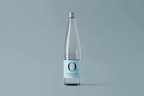 Minimal Glass Water Bottle Mockup