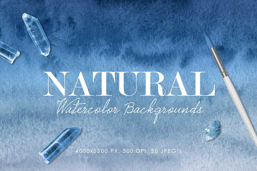 Natural Ombre Watercolor Backgrounds