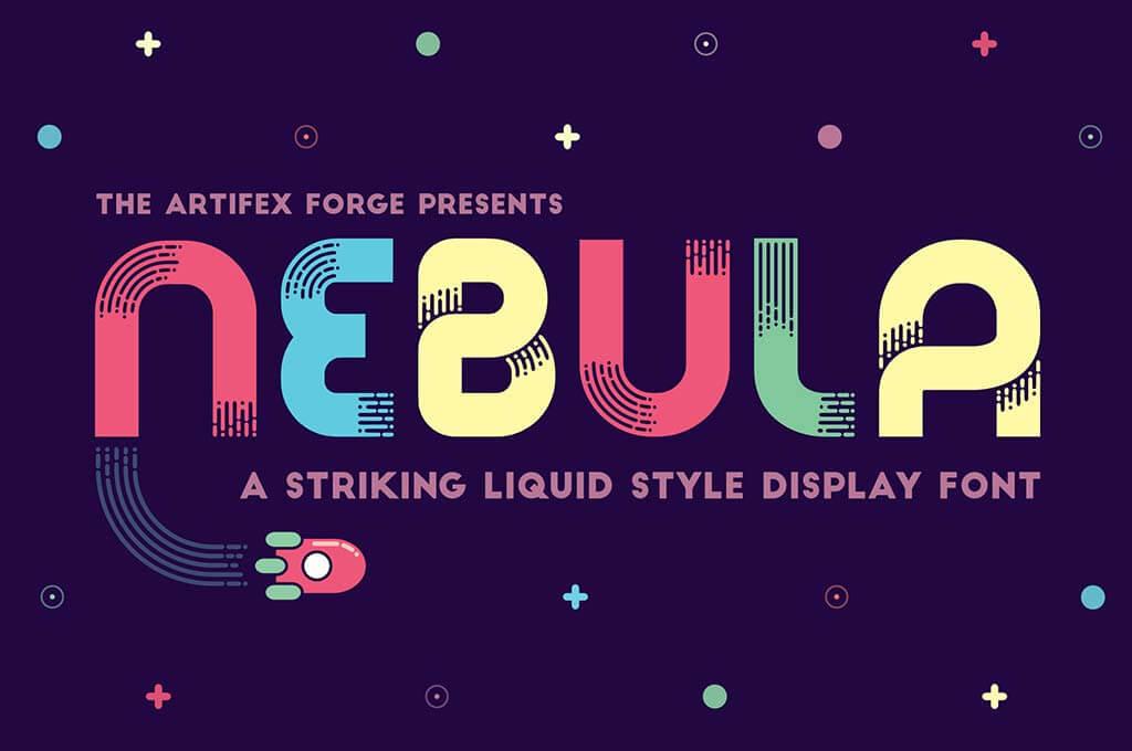 Nebula — A Liquid Style Font