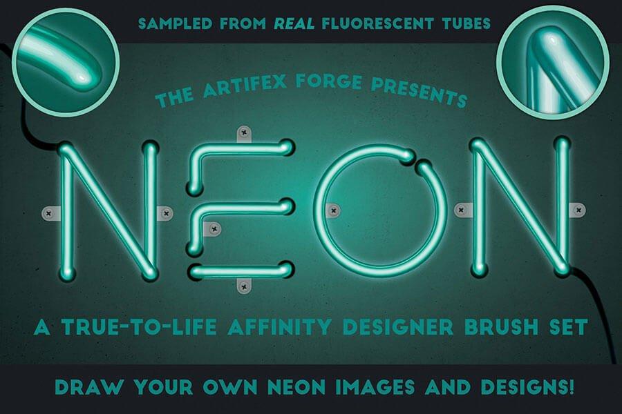 Neon Affinity Brushes