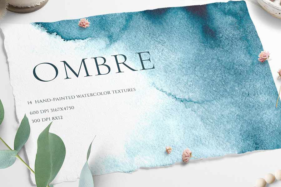 Ombre Watercolor Texture