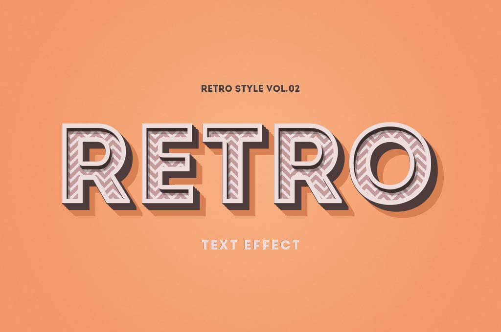PSD Retro Text Effect
