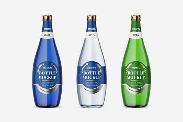 Perrier Glass Bottle Mockups