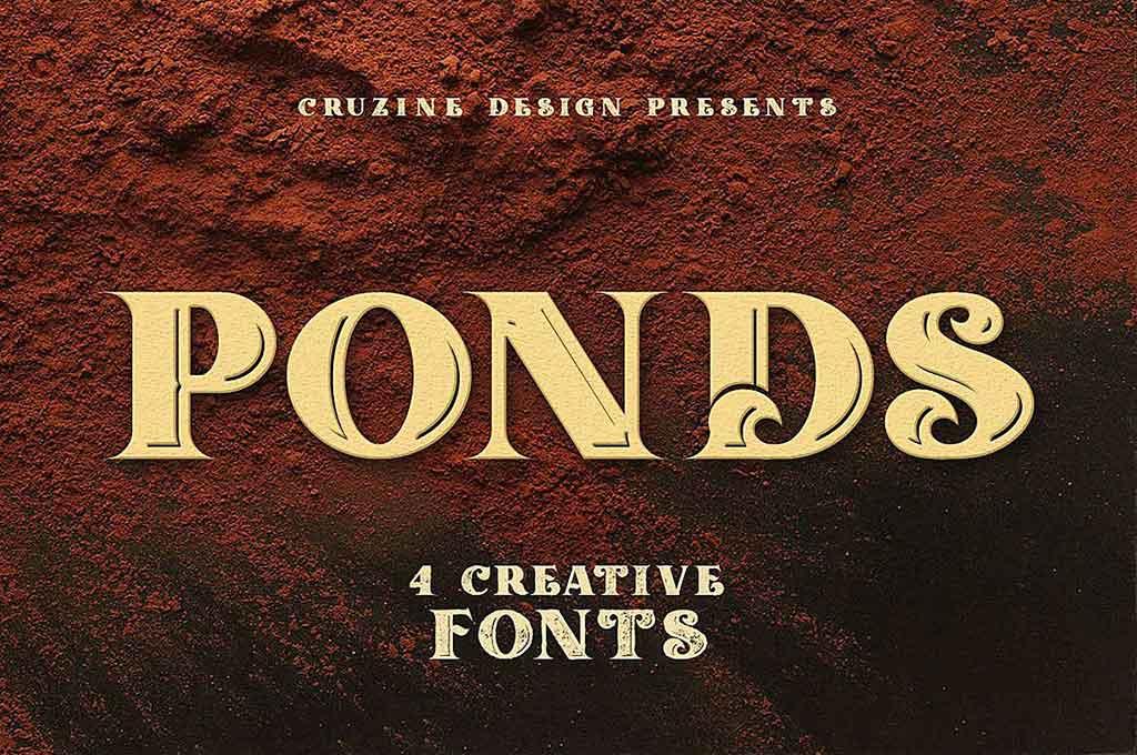Ponds Typeface