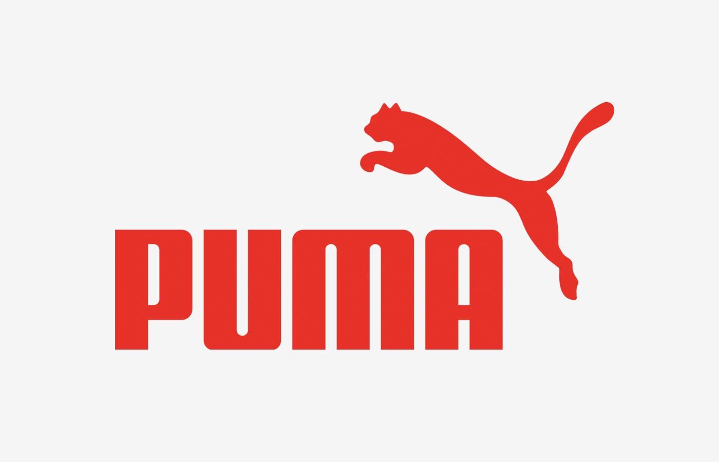 Puma logo color font