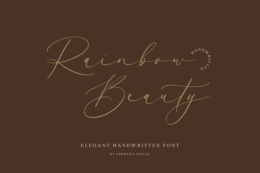 Rainbow Beauty — Wedding Font
