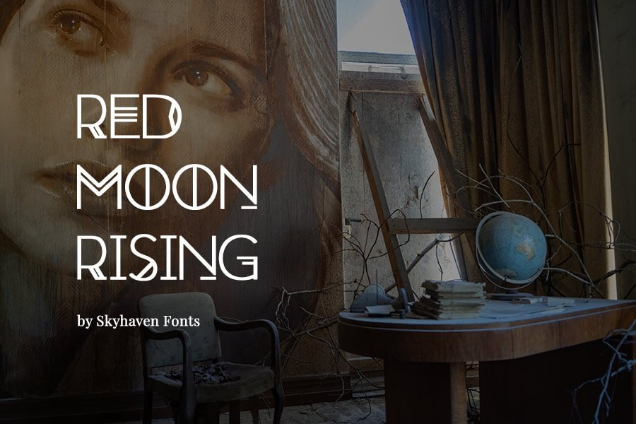Red Moon Rising Free Font