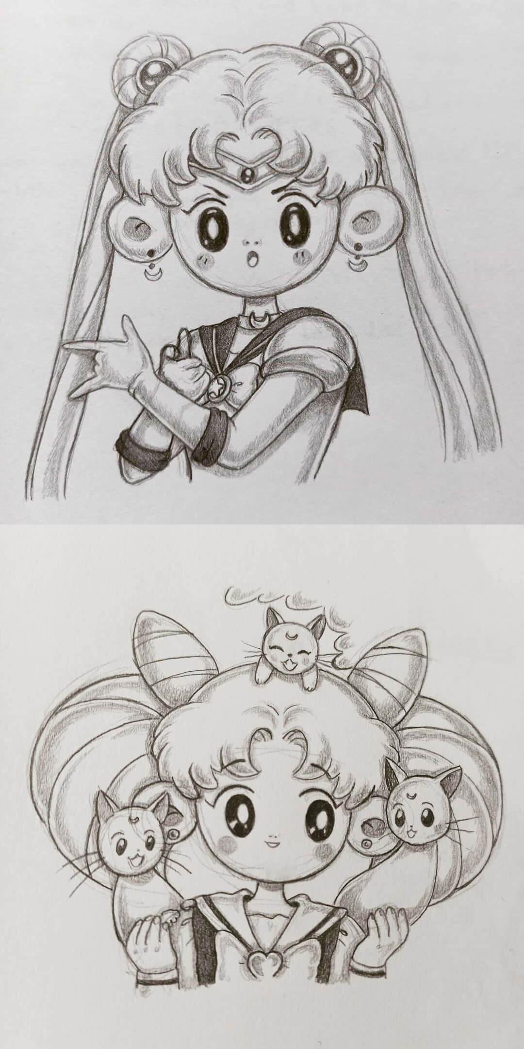 Redraw de Sailormoon by Loli
