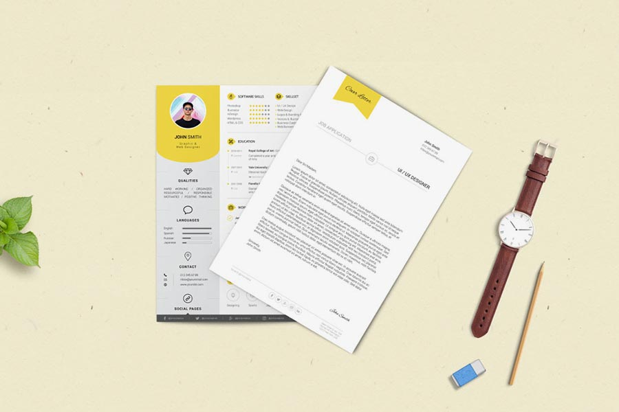 Resume and Cover Letter Print Templates