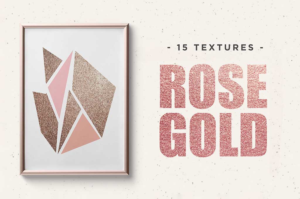 Rose Gold Texture Pigmented Paper