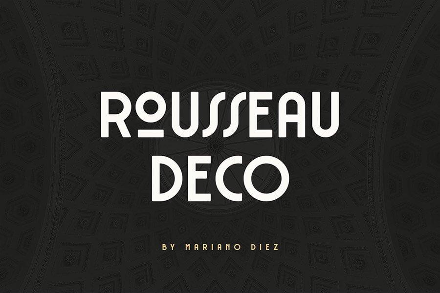 Rousseau Art Deco Font