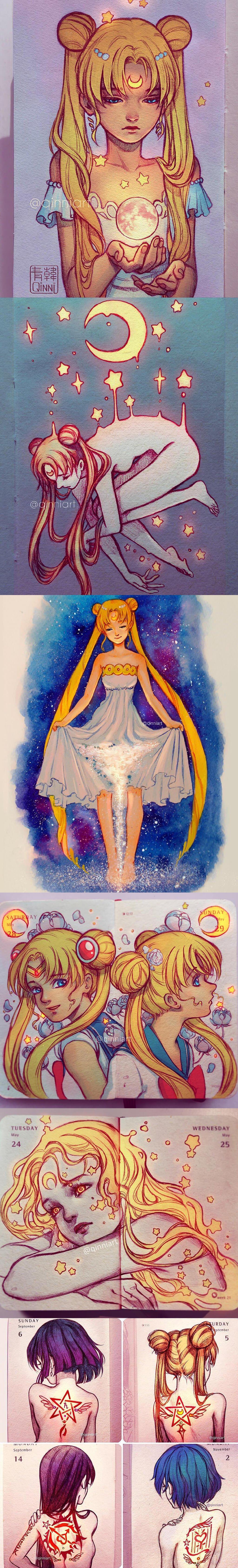 Sailor Moon Art by Qing Han