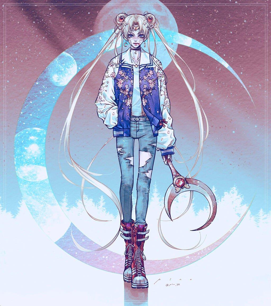 Sailor Moon Art by pinn