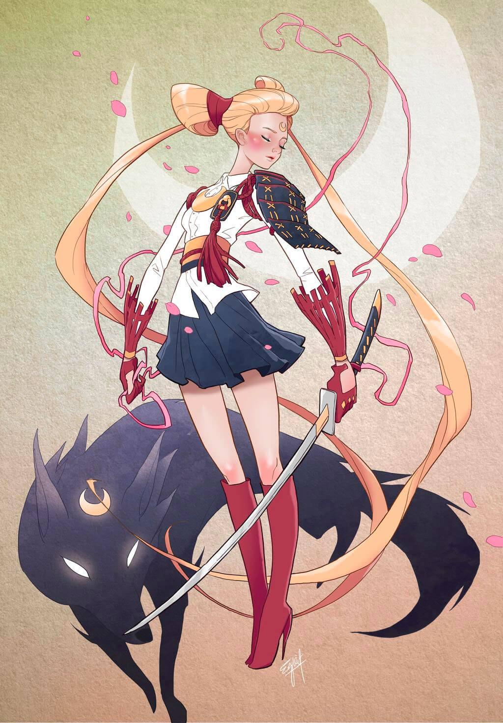 Sailor Moon Fan Art by Engkit Leong
