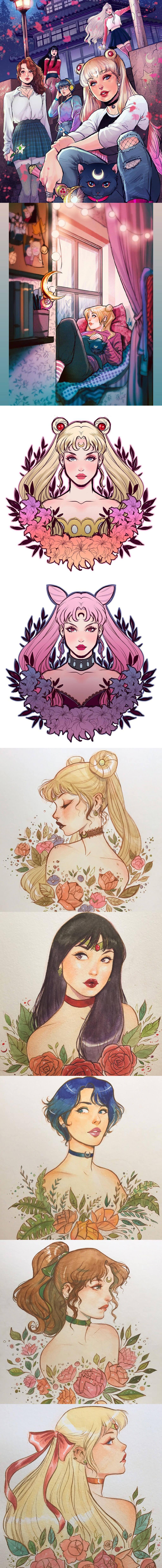 Sailor Moon Fan Art by Lucas Werneck