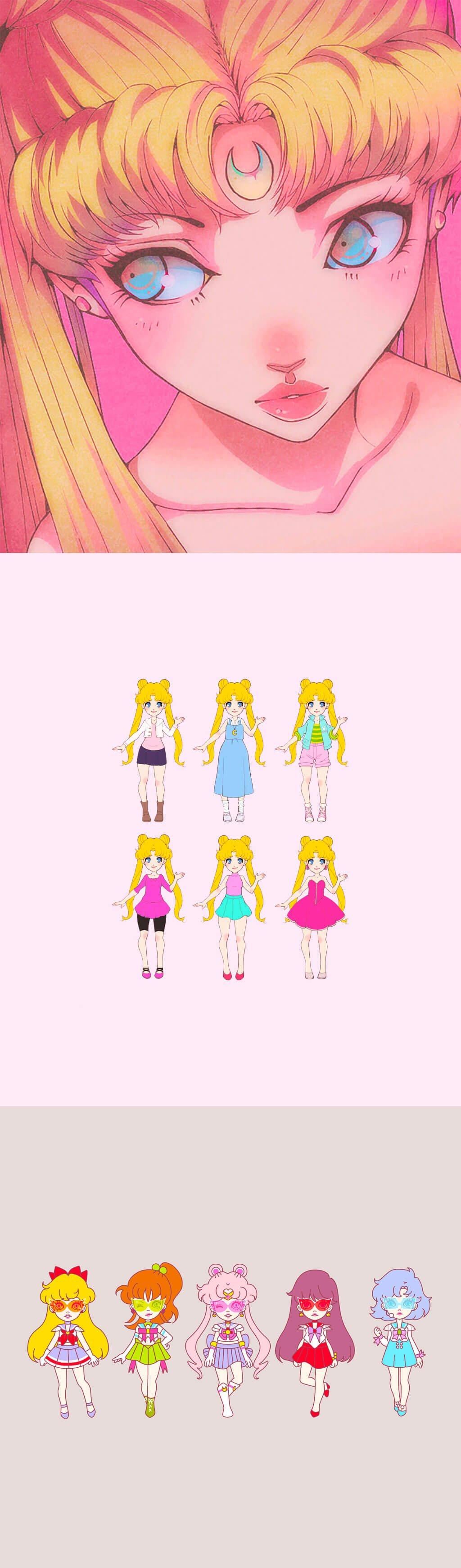 Sailor Moon Fan Art by Pterodactyl