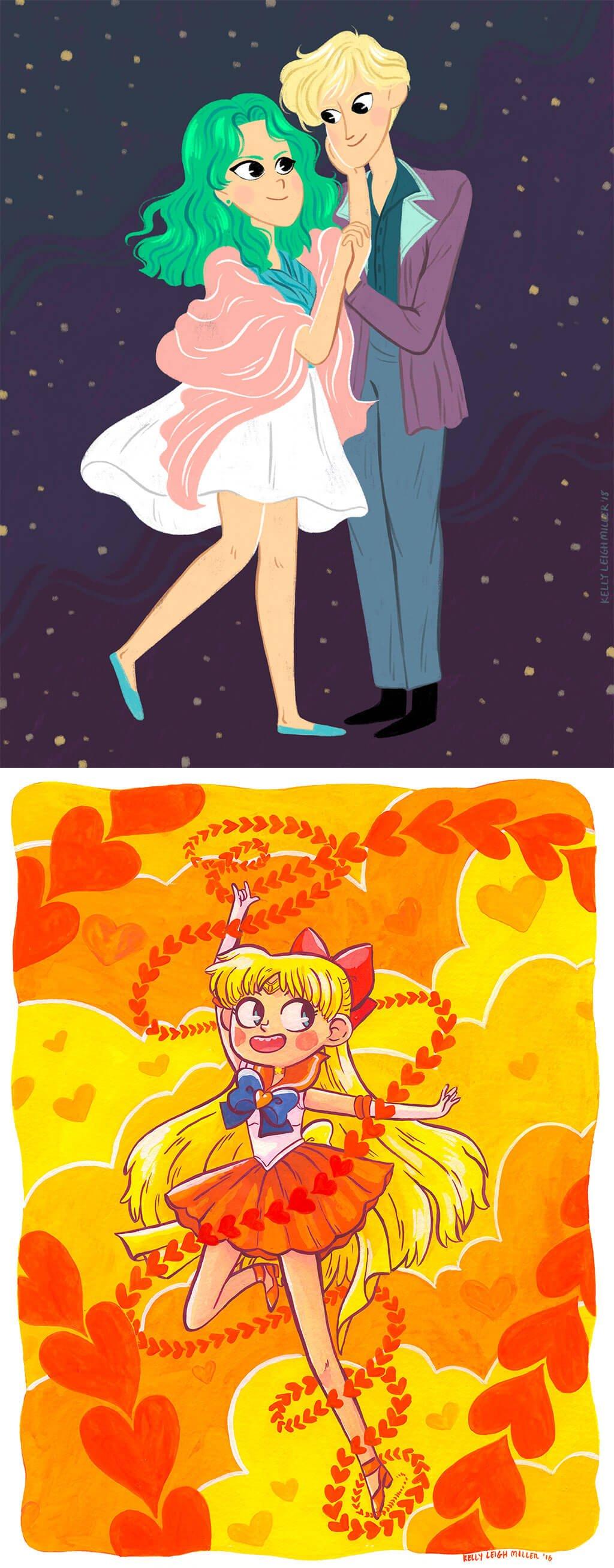 Sailor Moon Fanart by Kelly Miller