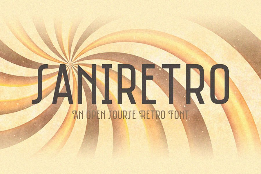 Saniretro Vintage Font