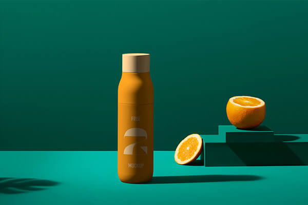 Scandi Juice Bottle Mockup