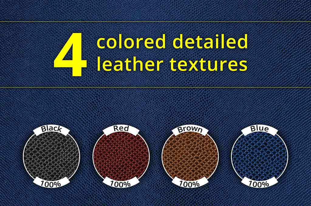 Set of 4 Leather Textures
