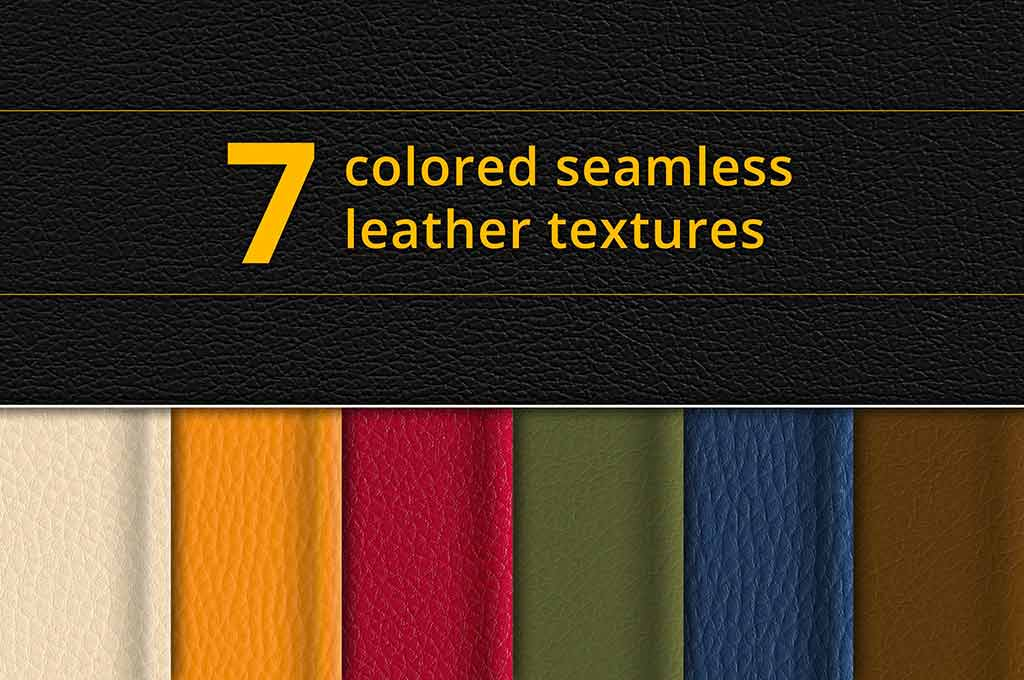 Set of 7 Seamless Leather Textures