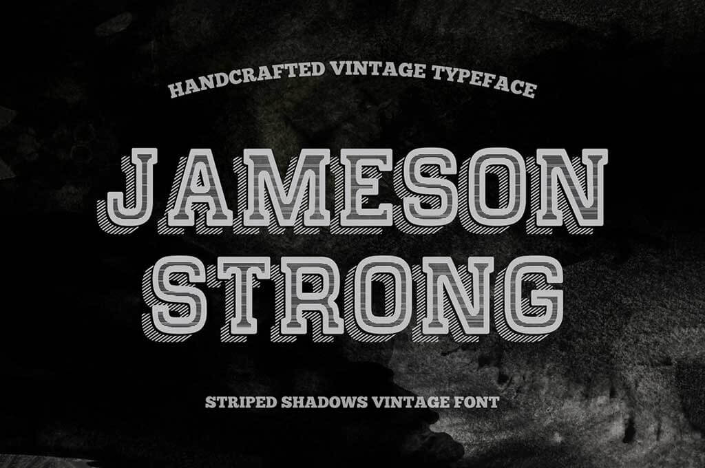 Shadow Stripes Vintage Typeface