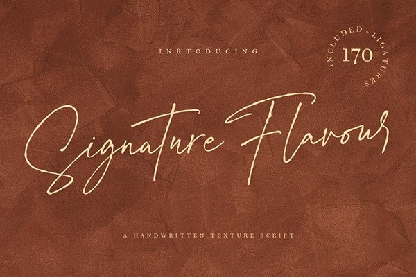 Signature Flavour Free Wedding Font