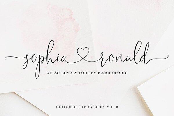 Sophia Ronald — Wedding Script Font
