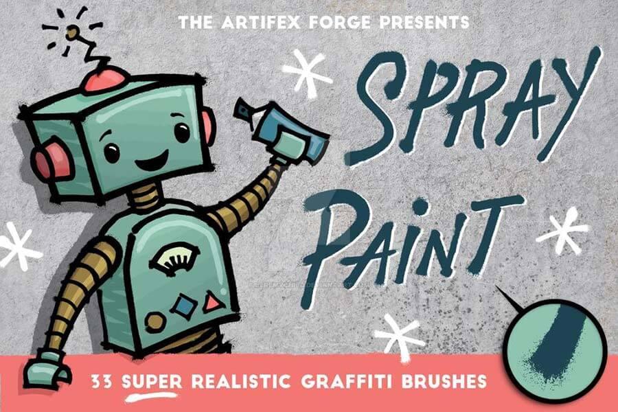 Spray Paint Brushes for Affinity Designer