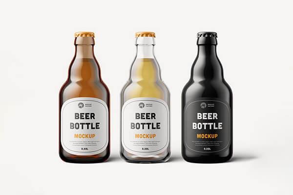 Steinie Beer Bottle Mockup
