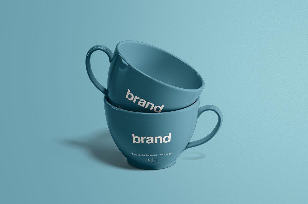 Tea Cups Mug Mockup