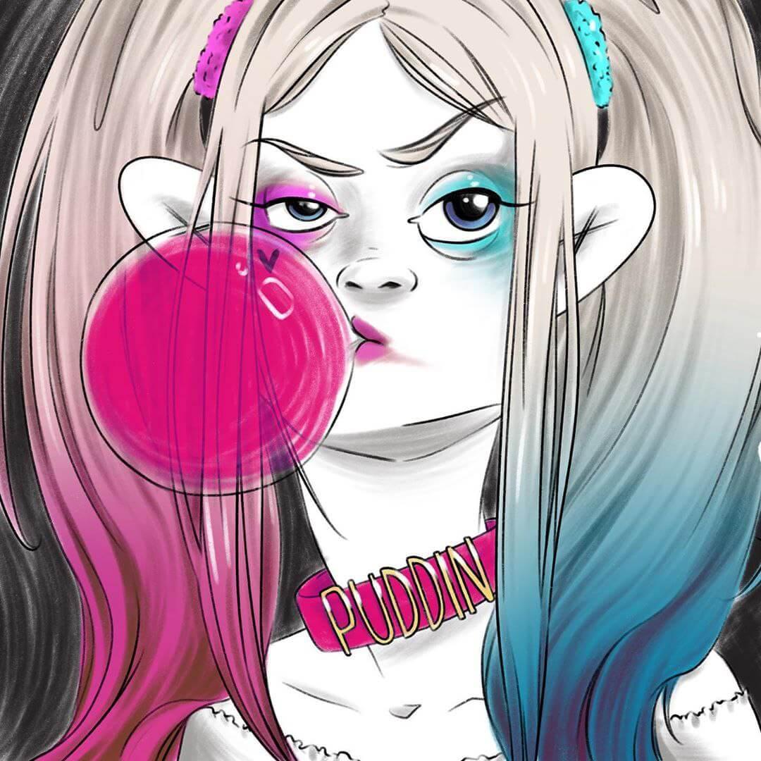 Teen Harley Quinn by Milka Oxana